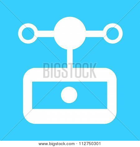 Anemometer Wind Meter Icon Illustration Design