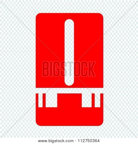 Weather Station Meter Icon Illustration Design