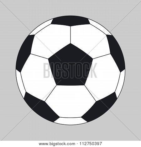 Vector illustration of a soccer ball