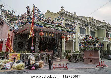 Georgetown, Penang/malaysia - Circa October 2015: Yap Kongsi Temple In Georgetown, Penang,  Malaysia