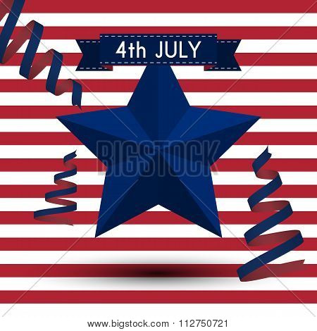 Vector illustration independence day usa
