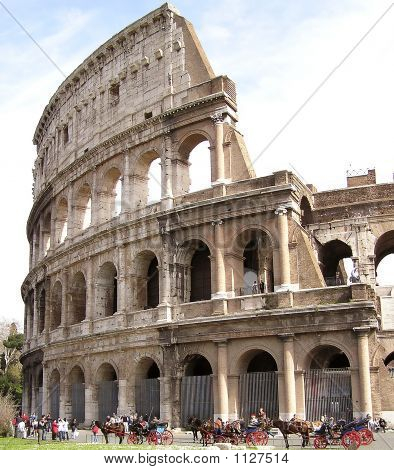 Side View Of The Colosseum, Rome