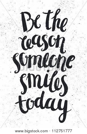 Vector hand drawn quote, phrase. Optimistic, wisdom lettering poster, card.