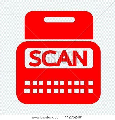 Scan Stock Icon Symbol Illustration Design