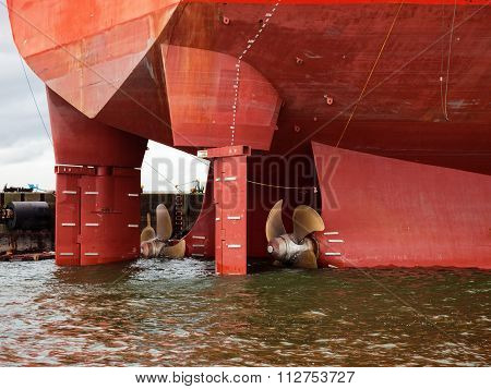 Ship Propeller In Water
