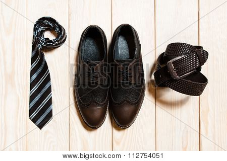Top View Of Mens Conservative Style Accessory