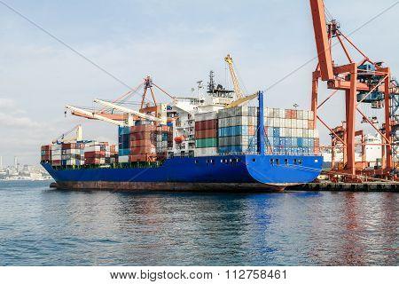 Cargo ship in Istanbul
