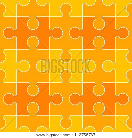 Interconnected Yellow Puzzle Piece Background