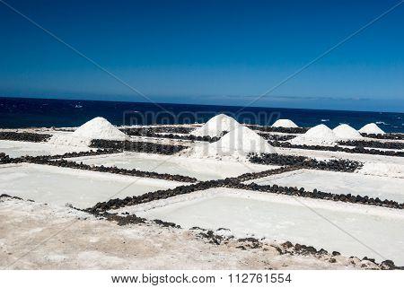 Salt Pans Of Fuencaliente De La Palma, Canary Islands, Spain.