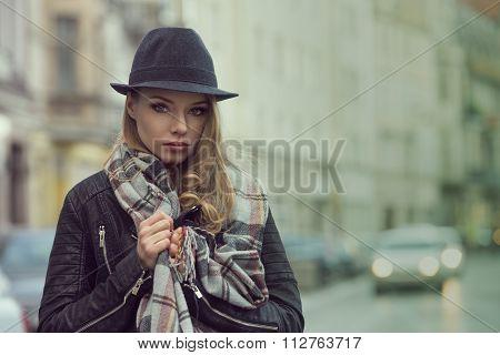 Urban Portrait Of Stunning Girl