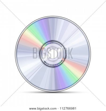 Digital optical disc data storage. Blue-ray, DVD or CD disc. Video, music, computer software