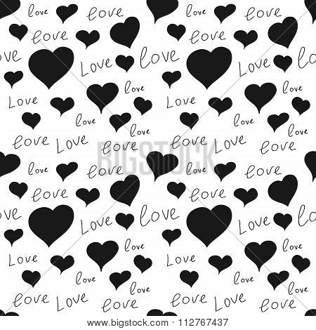 Vector illustration seamless pattern heart love