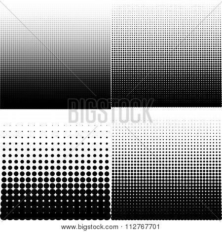 Vector illustration set of halftone