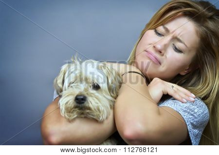 Woman With Dog....