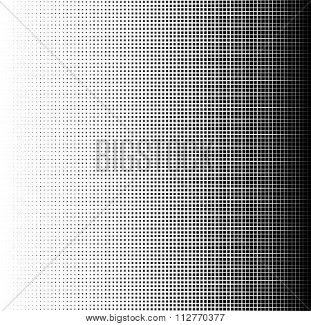 Vector illustration of Halftone squares