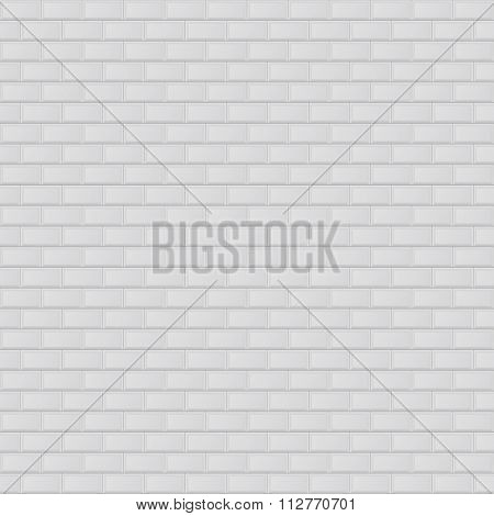 Vector illustration texture of white brick.
