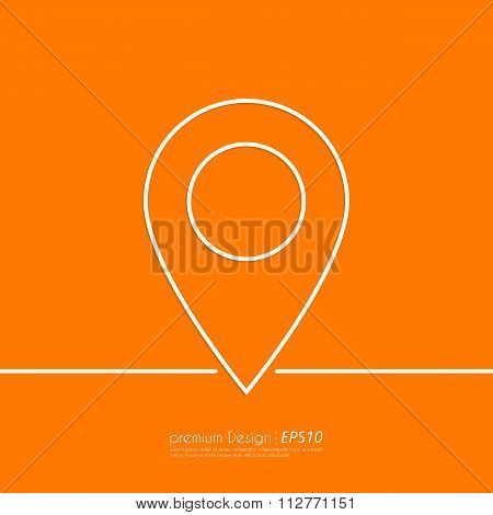Stock Vector Linear icon label