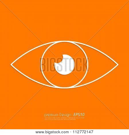Stock Vector Linear icon eyes