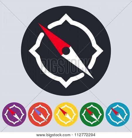 Stock Vector Linear icon compass