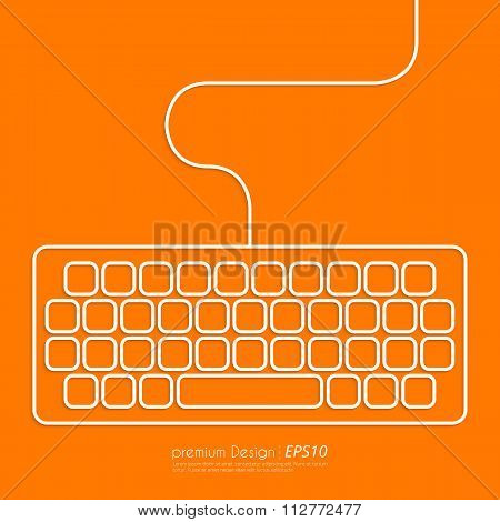 Stock Vector Linear icon keyboard