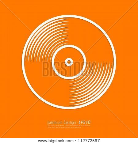 Stock Vector Linear icon vinyl