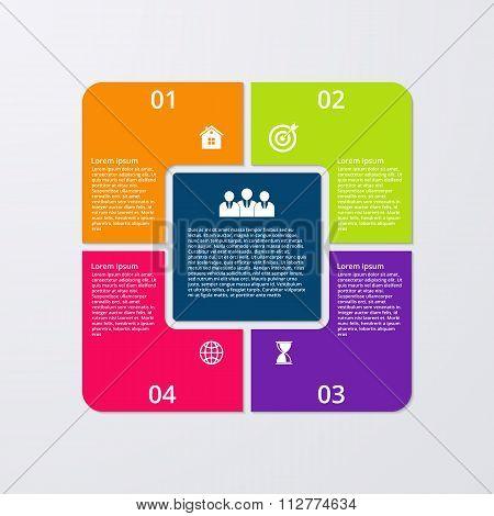 Vector illustration infographics 4 options.