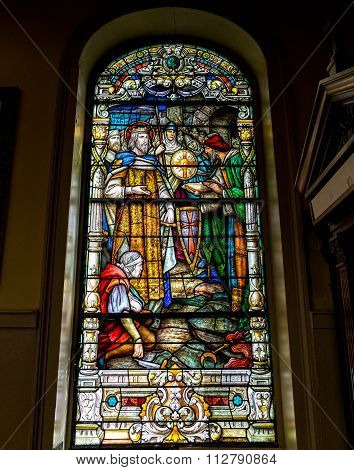 New Orleans Saint Louis Cathedral Interior Stain Glass