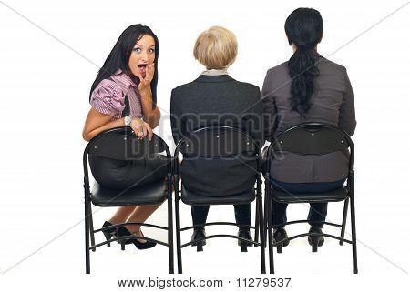 Amazed Woman At Presentation