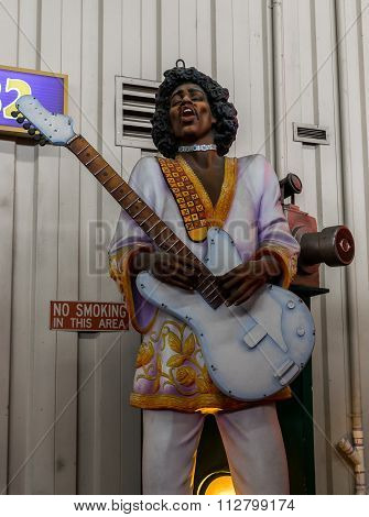 New Orleans Mardi Gras World - Jimi Hendrix