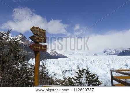 Balcony System At Perito Moreno Glacier, Los Glaciares National Park, Argentina