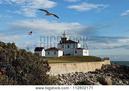 Watch Hill Lighthouse In Rhode Island