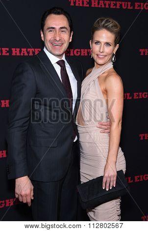LOS ANGELES - DEC 07:  Demian Bichir & Stefanie Sherk arrives to the