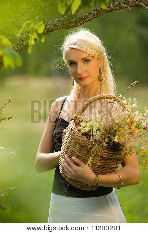 Beautiful woman relaxing outdoor