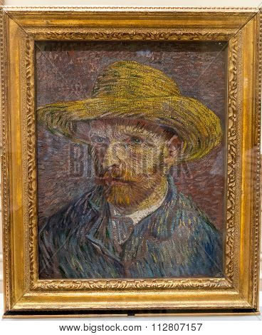 New York City The Met - Vincent Van Gogh Self Portrait Painting