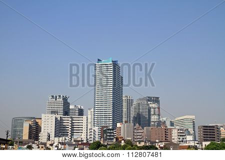 High-rise condominium in Yokohama Minatomirai 21 Japan poster