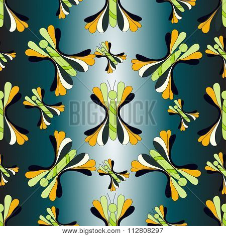 Butterfly Colorful Background Vector Illustration