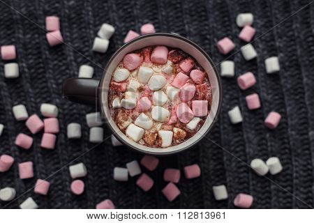Marshmallow In A Mug With Cocoa