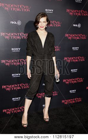 Milla Jovovich at the Los Angeles premiere of