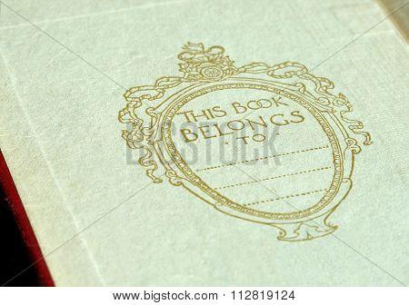 Book inside cover