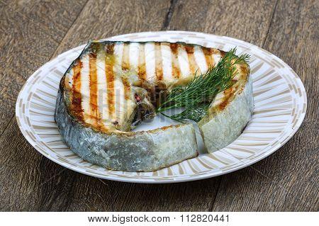 Grilled Strugeon Steak