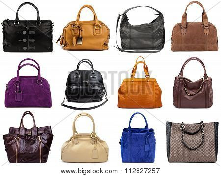 Set Of Multicolored Female Bags