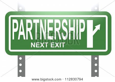 Partnership Green Sign Board Isolated