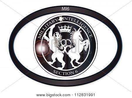 Mi6 Oval Badge