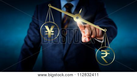 Indian Rupee Outbalancing The Yen Or Yuan
