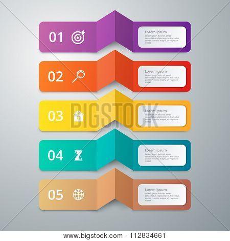 Vector illustration infographics 5 options