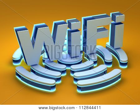 WiFi signal background
