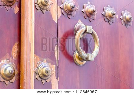 Golden knocker door