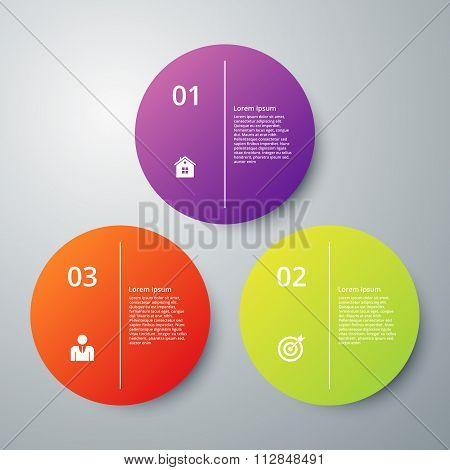 Vector illustration infographics three options