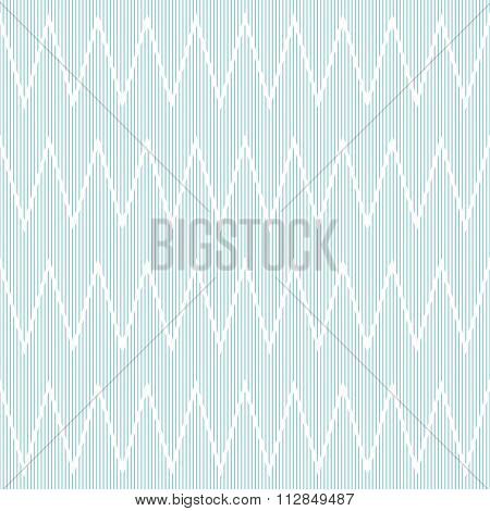 Seamless Striped Pattern With Horizontal Zigzag