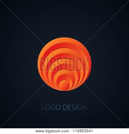 Vector illustration of abstract circle logo